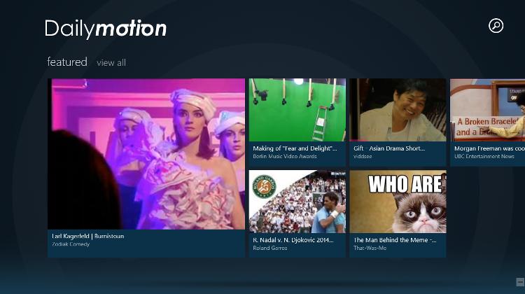 Dailymotion トップ画面