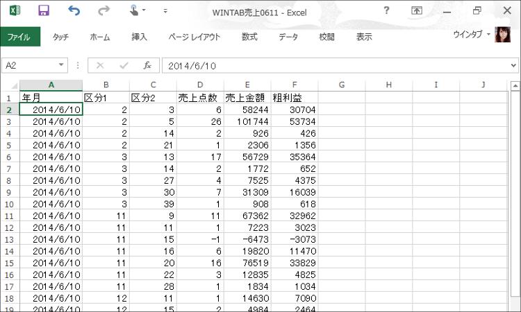 CSV生データ
