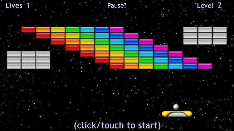 Brick Breaker ゲーム画面