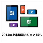 Windowsタブレットの国内シェア15%に思うこと