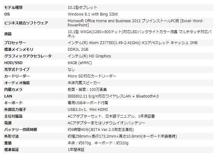 Iiyama 10P1100T AT FSM スペック表