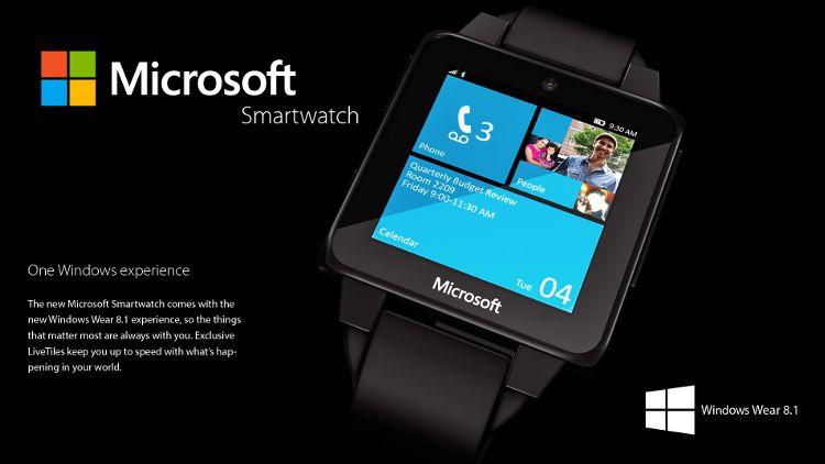 Microsoftスマートウォッチコンセプト タイル画面
