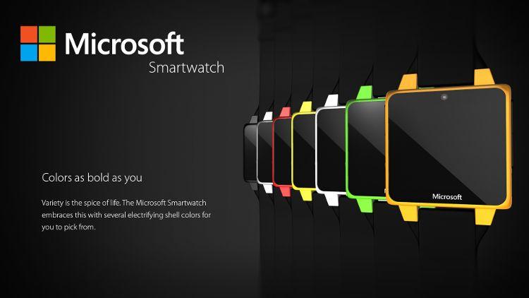 Microsoftスマートウォッチコンセプト カラーバリエーション