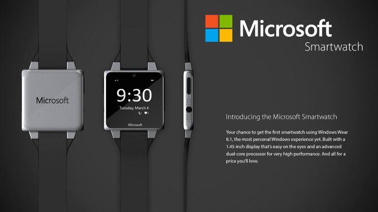 Microsoftスマートウォッチコンセプト 時計画面