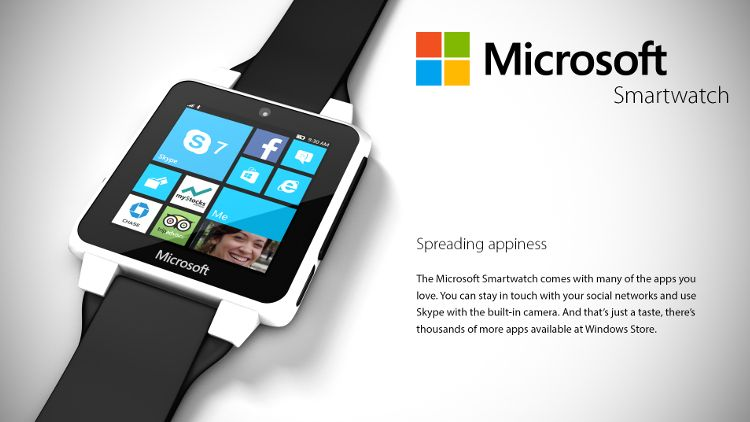 Microsoftスマートウォッチコンセプト アプリ