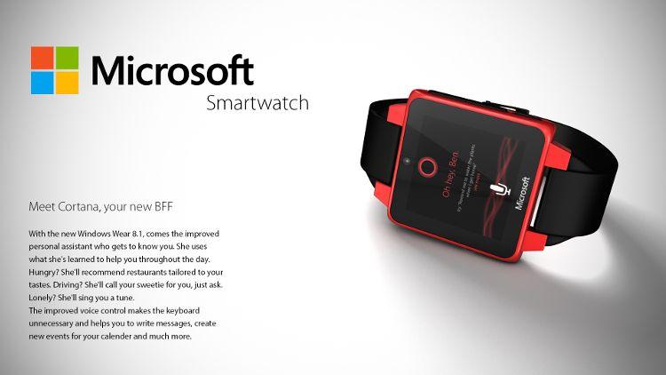 Microsoftスマートウォッチコンセプト Cortana