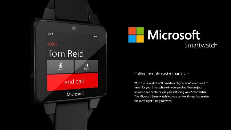 Microsoftスマートウォッチコンセプト 通話