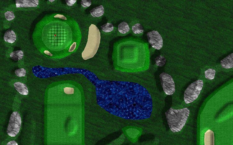 Par 72 Golf コース拡大図