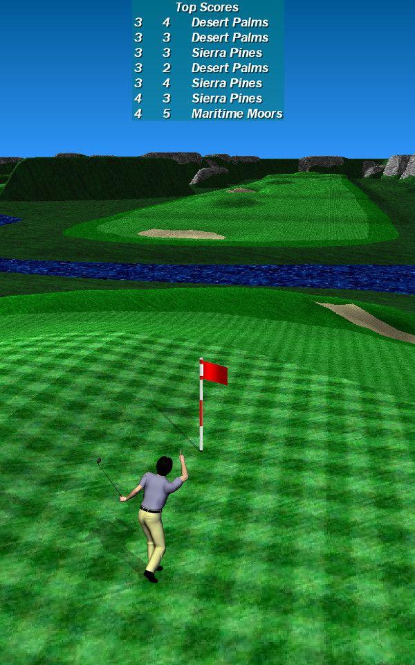 Par 72 Golf 縦持ち画面