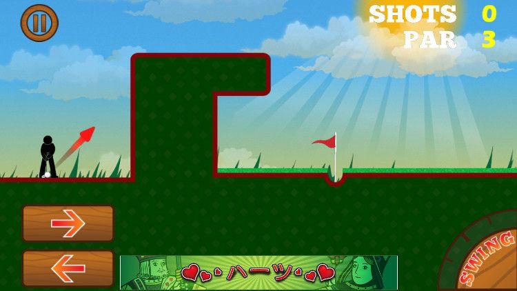 Super Golf Land ゲーム画面
