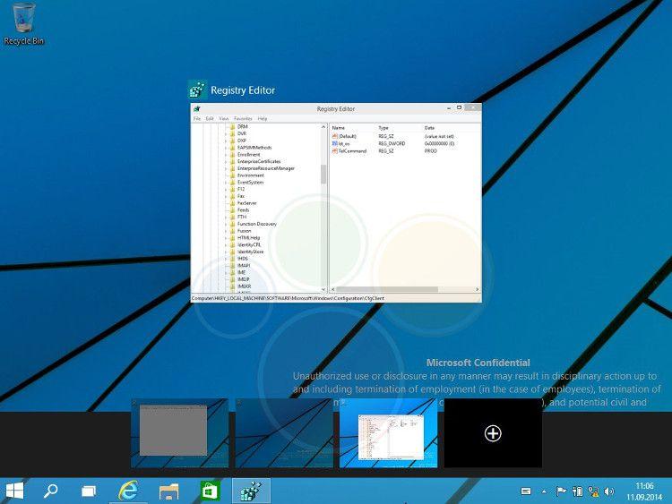 Windows9 テクニカルプレビュー版の流出画像