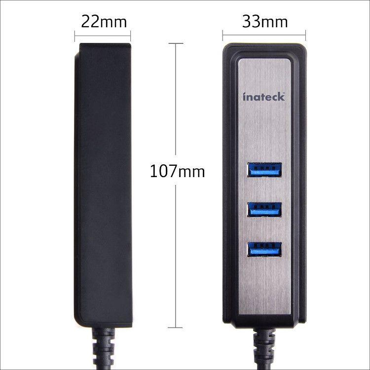 inateck USBハブ HB4008 サイズ