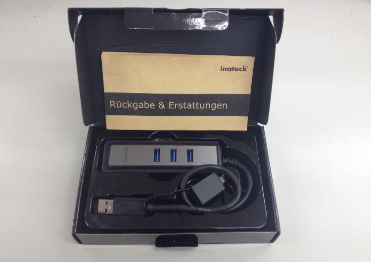 inateck USBハブ HB4008 パッケージ