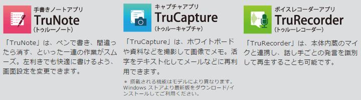 付属アプリTru