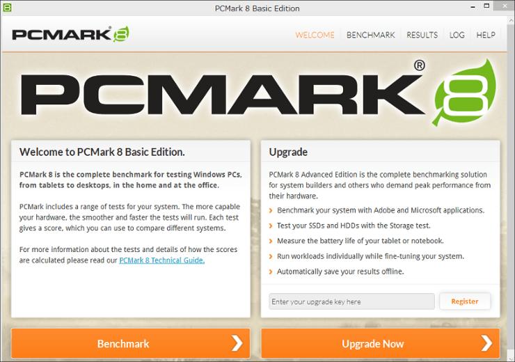 PCMarkでベンチマークテスト