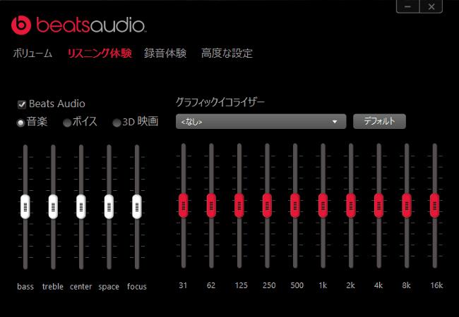 Stream 14 beats audio 操作パネル