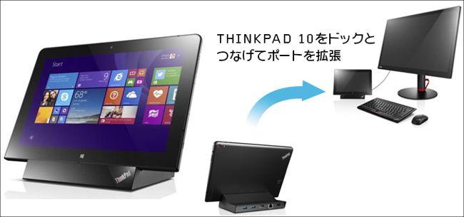 ThinkPad 10用ドッキングステーション