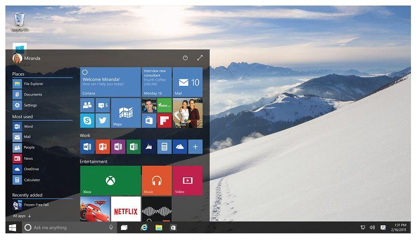 Windows 10 スタートメニュー小