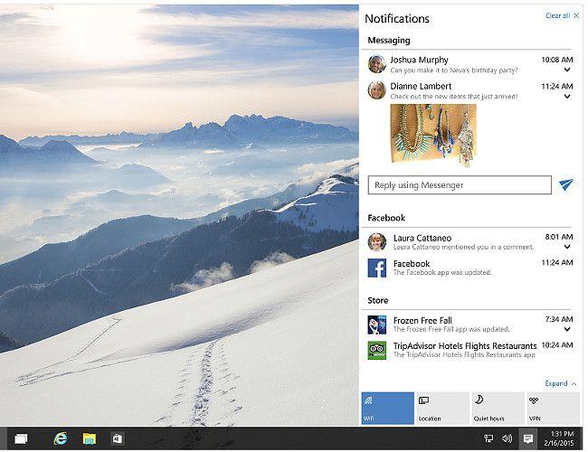 Windows 10 通知センター
