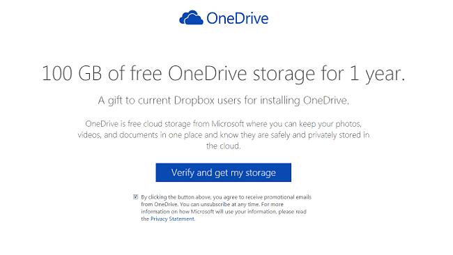 OneDrive Dropboxボーナス
