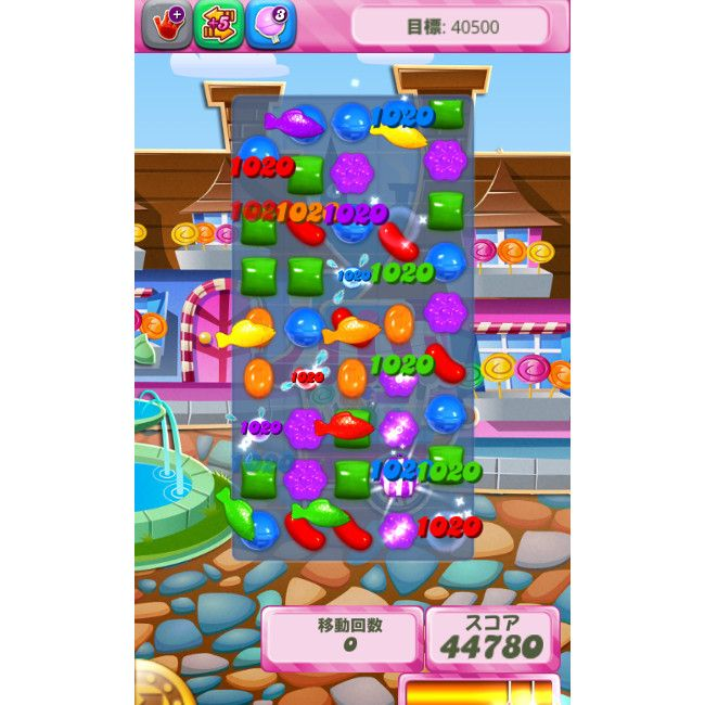 WindowsPhoneストア Candy Crush ゲーム画面