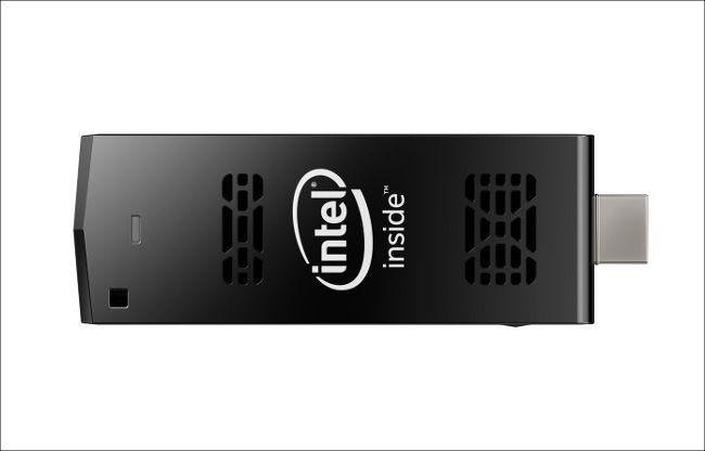 Intel Compute Stick 上から見たところ