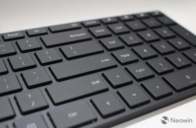 Microsoft's Designer Bluetooth Desktop エンターキーまわり