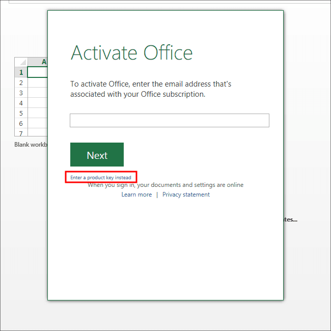 Office Preview アクティベート
