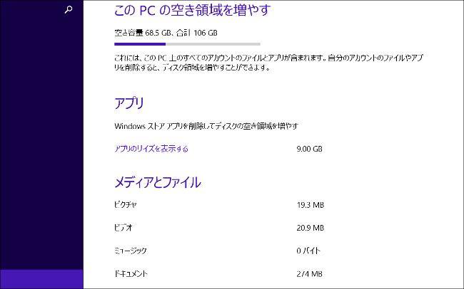 Lenovo ThinkPad 8 ディスク情報