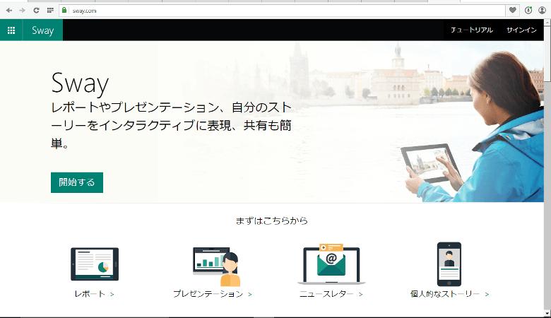 SwayのWebサイト