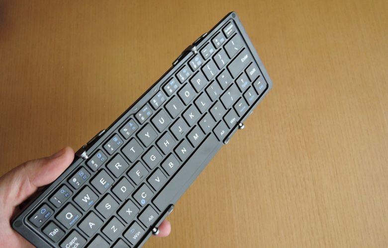 EC Technology 折りたたみキーボード 一度展開したら安定