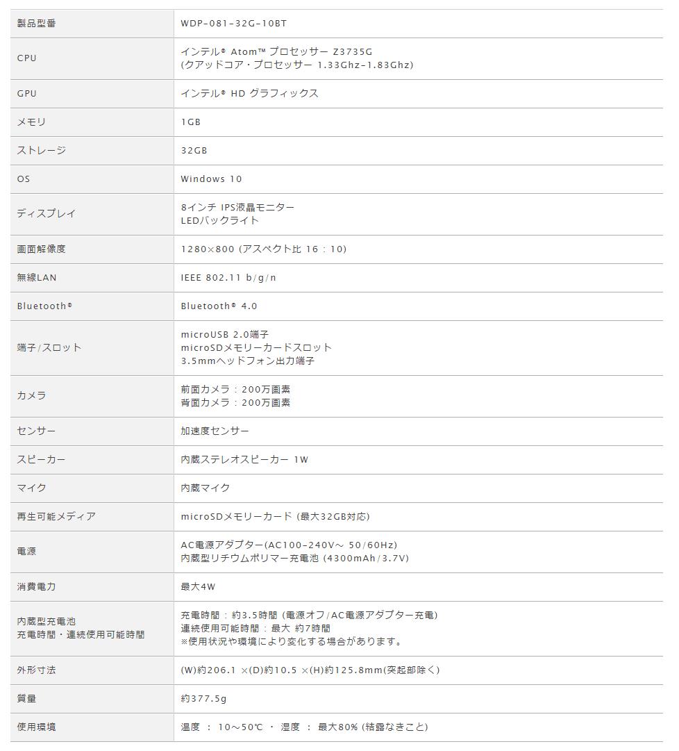 geanee WDP081-32G-10BT