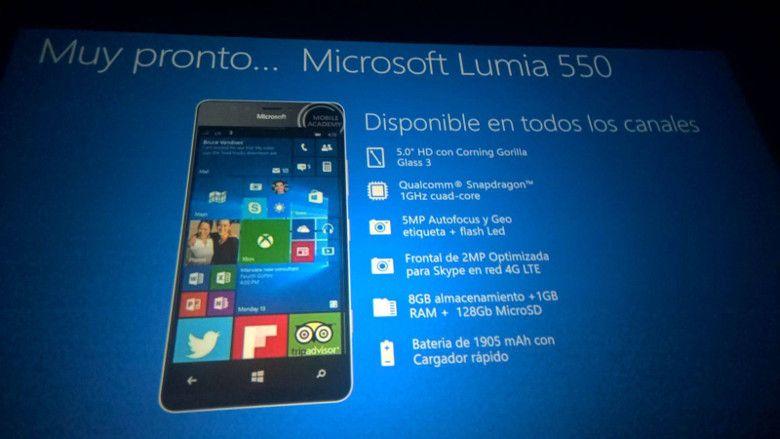 Lumia 550 流出画像
