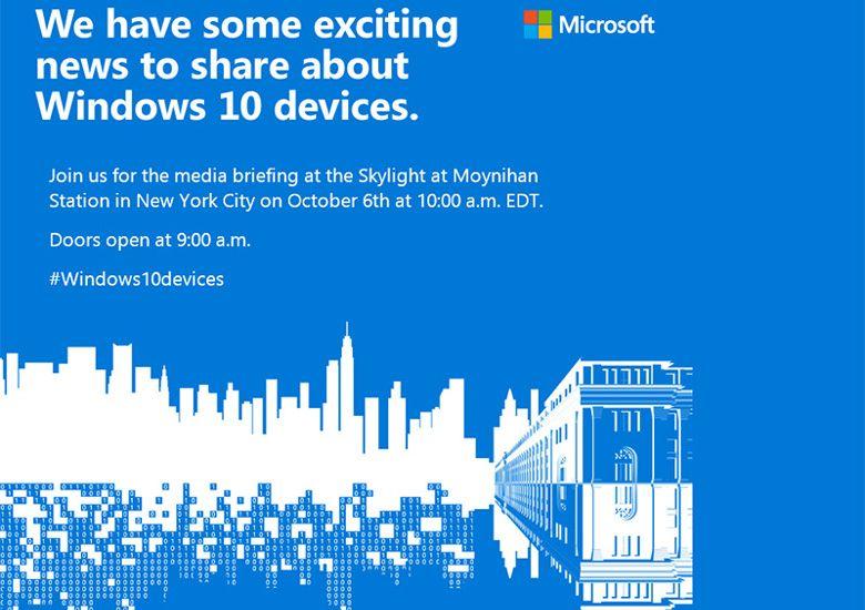 Microsoftが10月6日にイベント