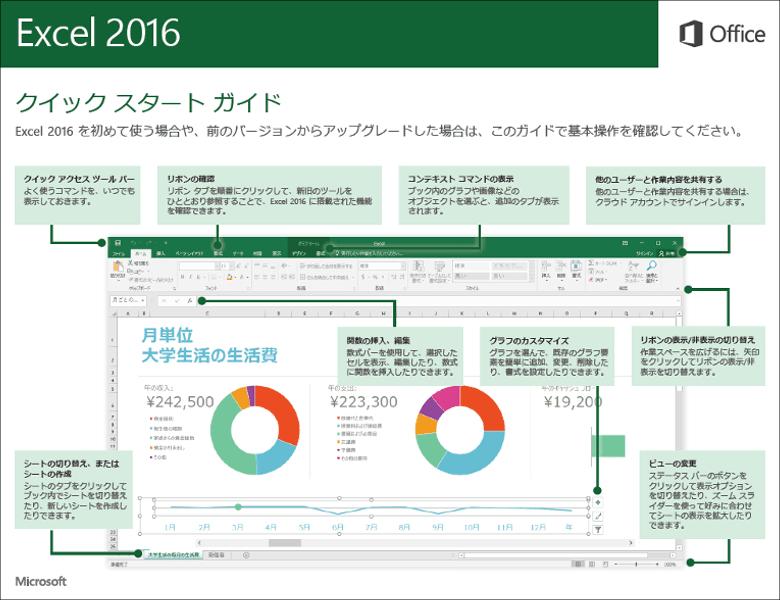 Office2016クイックスタートガイド Excel