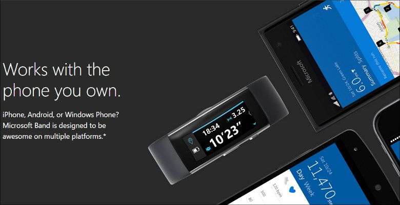 Microsoft Band スマホとの連携