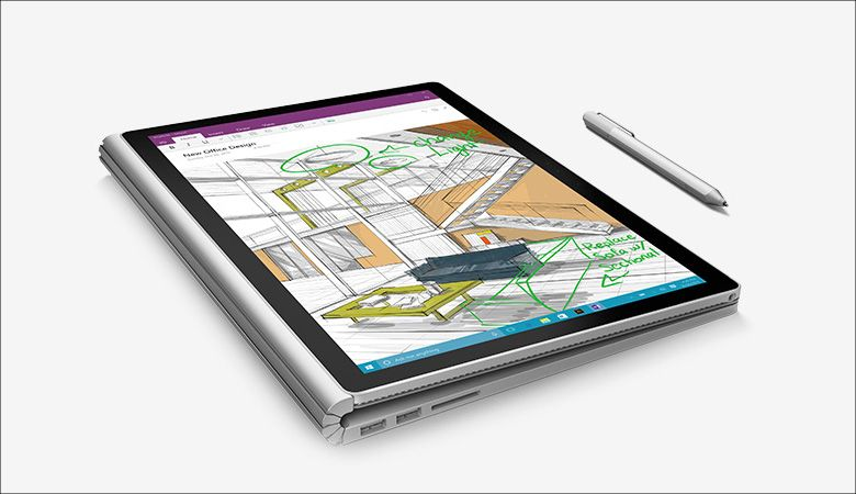 Microsoft Surface Book 手書き入力