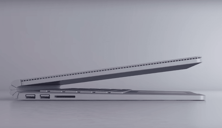 Surface Bookのサイドビュー