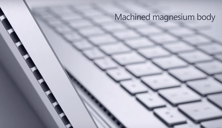 Surface Bookの筺体はマグネシウム製