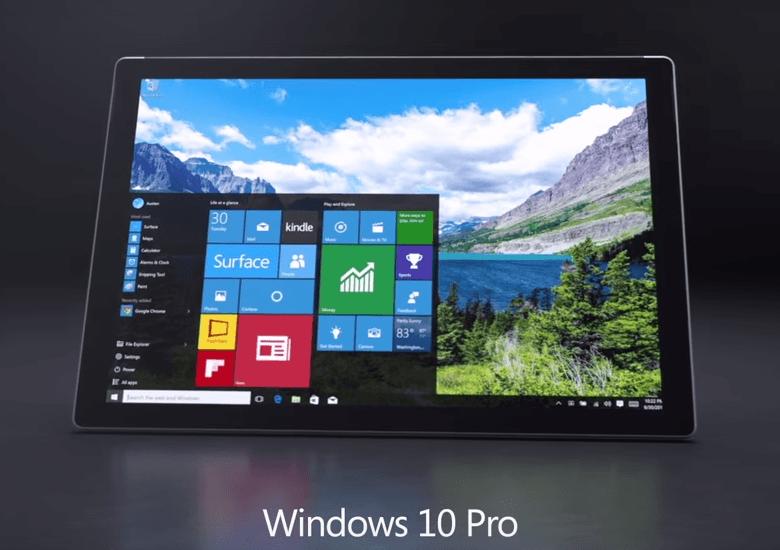 Surface Pro 4のOSはWindows 10 Pro
