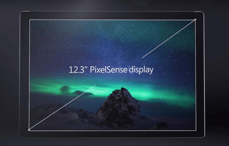 Surface Pro 4のディスプレイは12.3インチ