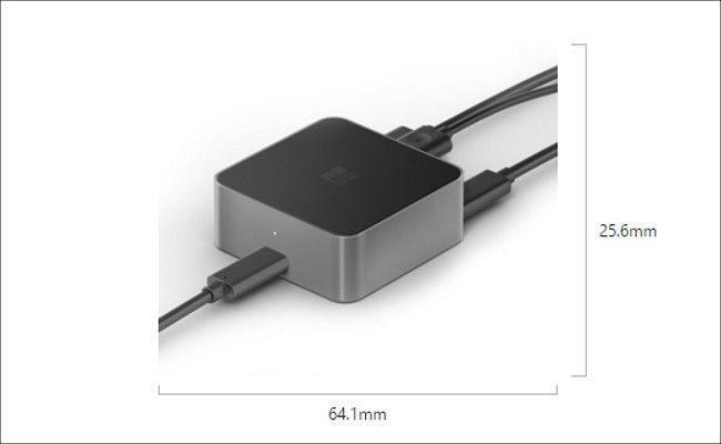 Microsoft Display Dock HD-500 サイズ
