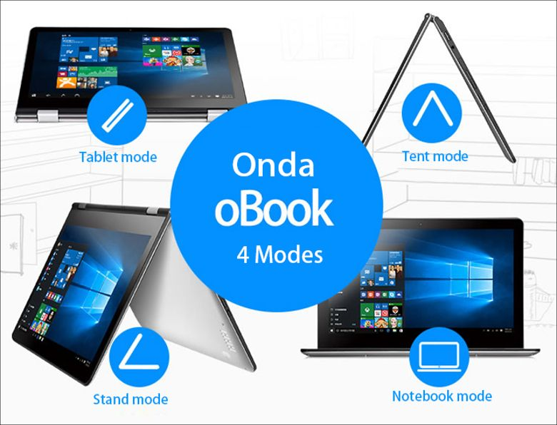 ONDA oBOOK 11 4つのスタイル