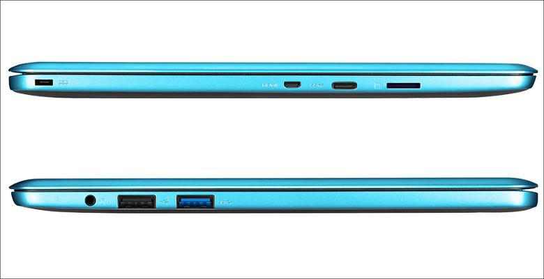 ASUS EeeBook E202SA サイドビュー