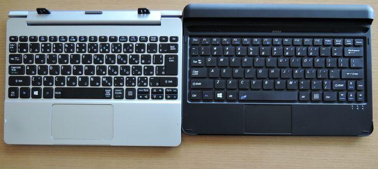 Cube iWork11 AspireSwitchとキーボード比較