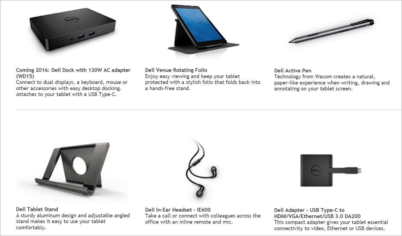 DELL Venue 8 Pro 5000 オプション類