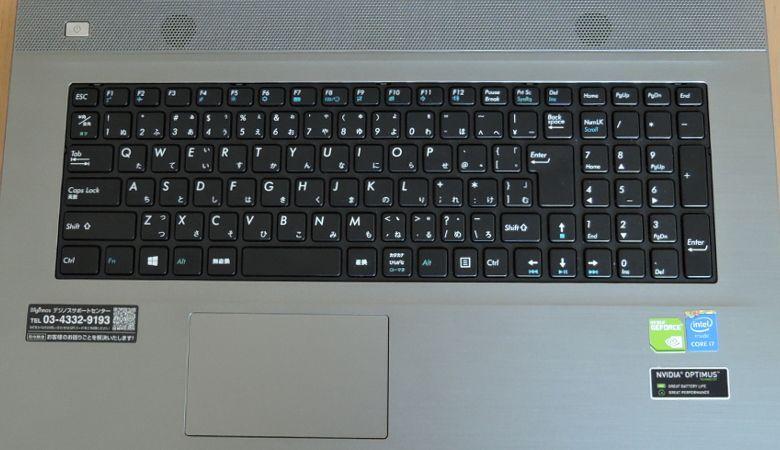 ドスパラ Critea VF-HG10 キーボード