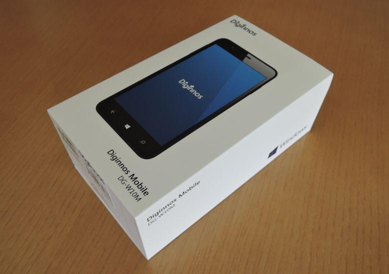 ドスパラ Diginnos Mobile DG-W10M 外箱