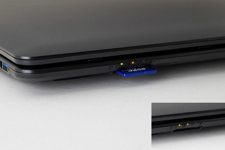 マウスコンピューター LuvBook B SDスロット