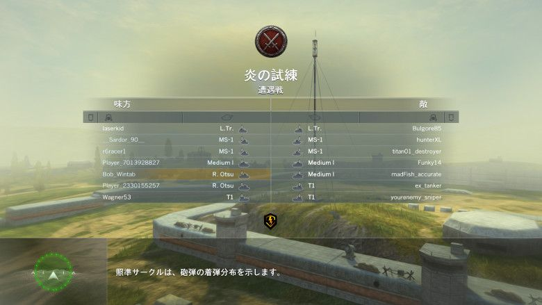 World of Tanks 戦闘
